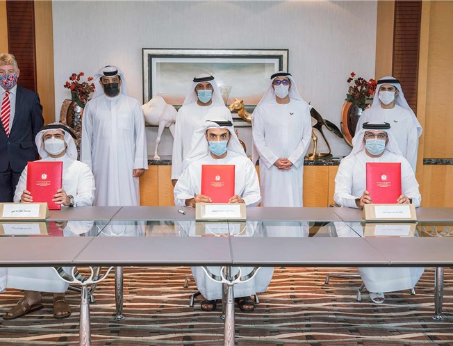Signing of the MOU between the MOHRE, Dubai Airports Corporation and the Human Resources Development Fund
